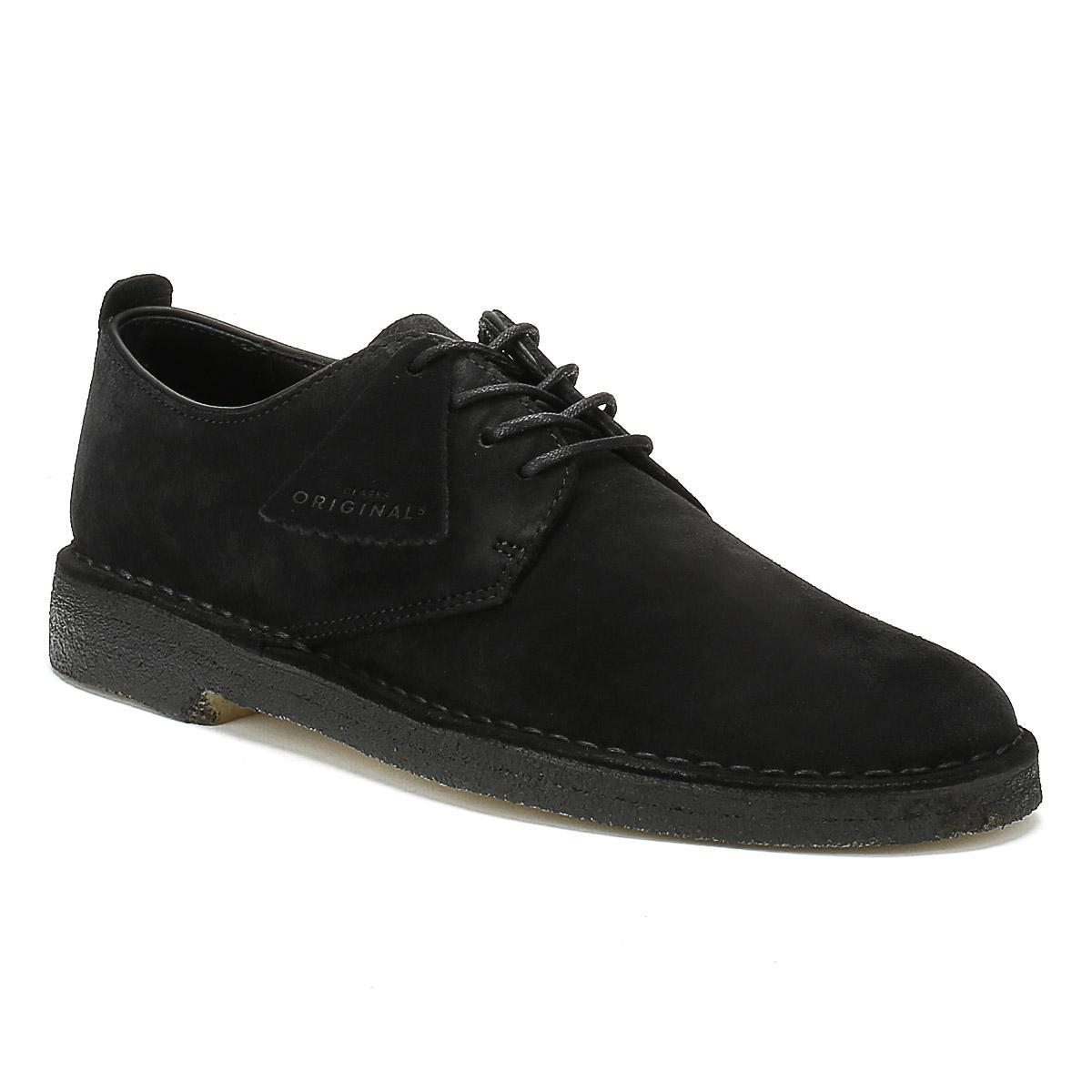Desert London Suede Shoes - Black Clarks bvzZ8OSMfK