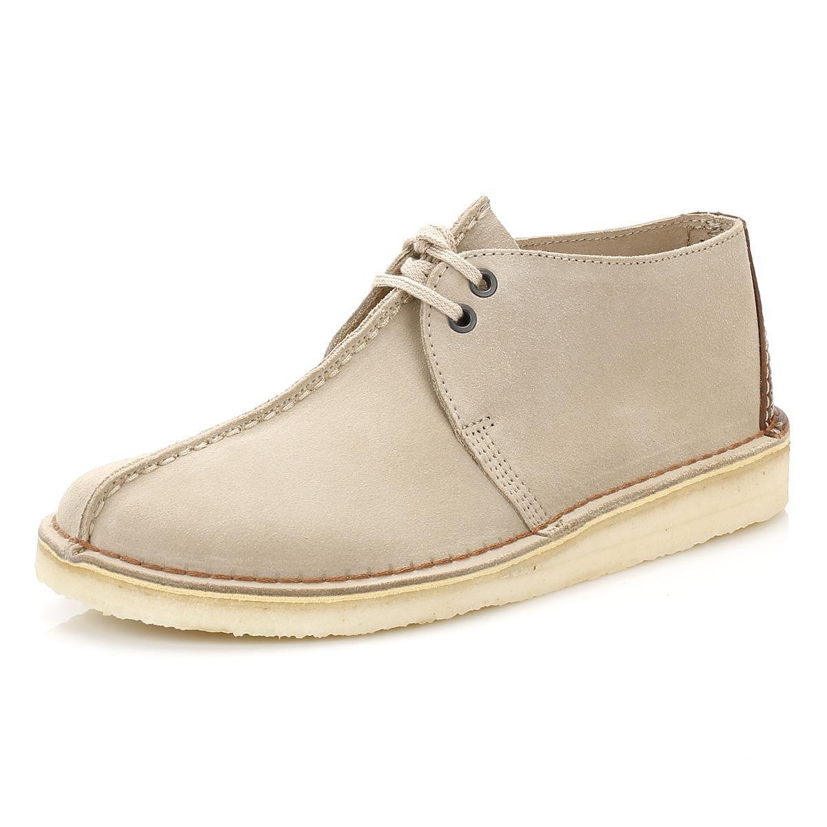 Clarks - Natural Mens Sand Suede Desert Trek Shoes for Men - Lyst. View  fullscreen
