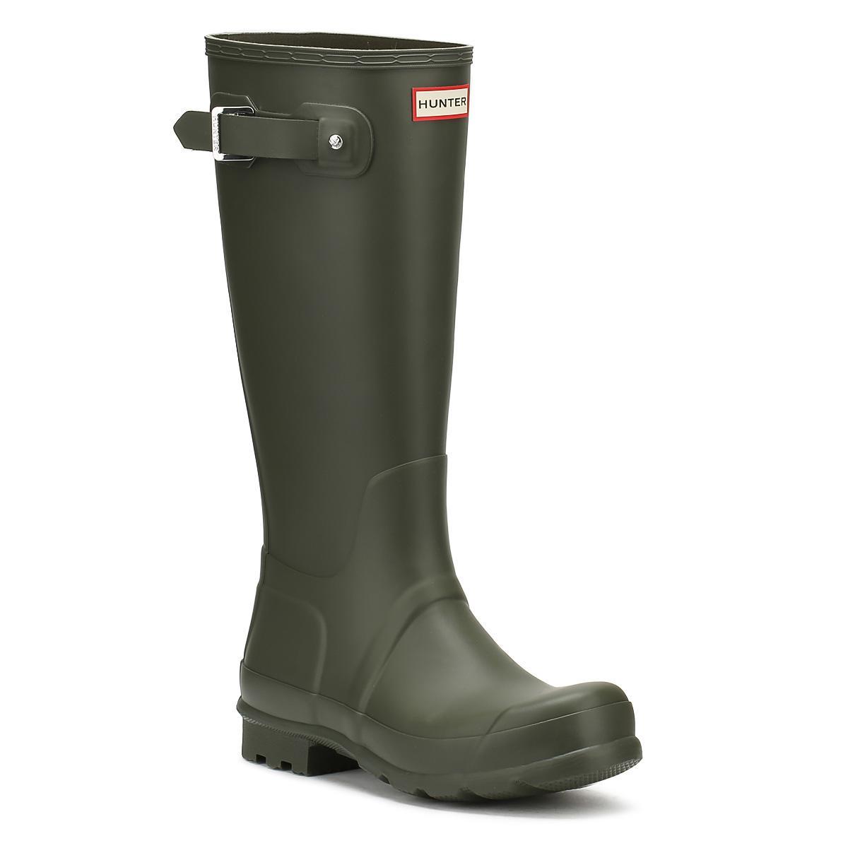 HUNTER. Original Mens Dark Olive Green Tall Wellington Boots