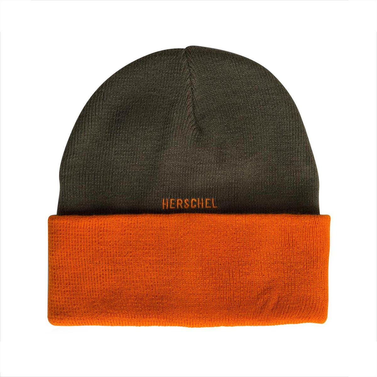Herschel Supply Co. Rosewell Ivy Green   Orange Beanie in Green for ... 2c9bcc1c0258