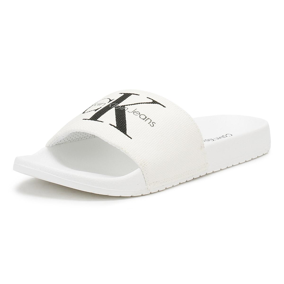 b80a80759f95 Calvin Klein - Mens White Viggo Slides for Men - Lyst. View fullscreen