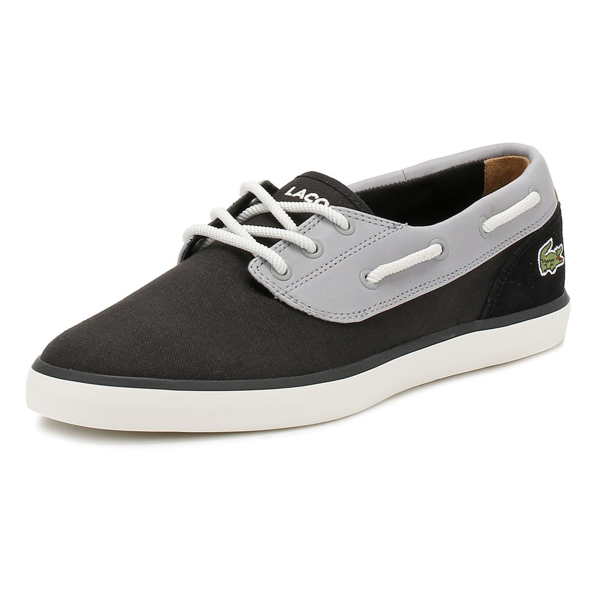 330124869 Lyst - Lacoste Mens Black Jouer Deck 117 1 Cam Shoes in Black for Men