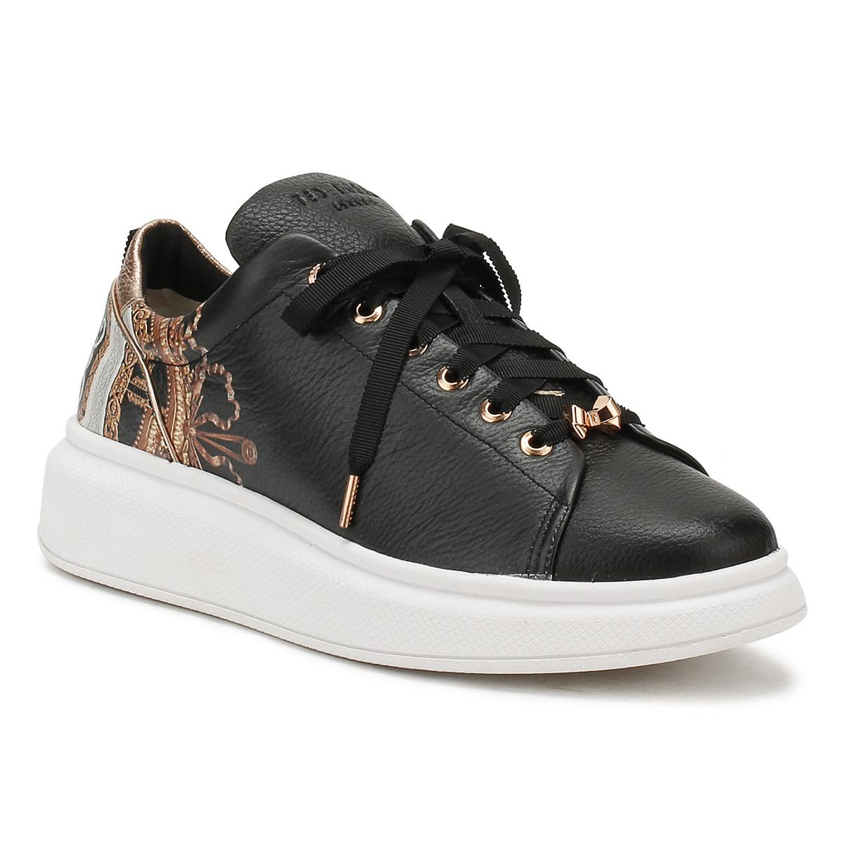 d671ccb3141b Ted Baker Womens Black Versailles Ailbe Trainers in Black - Lyst
