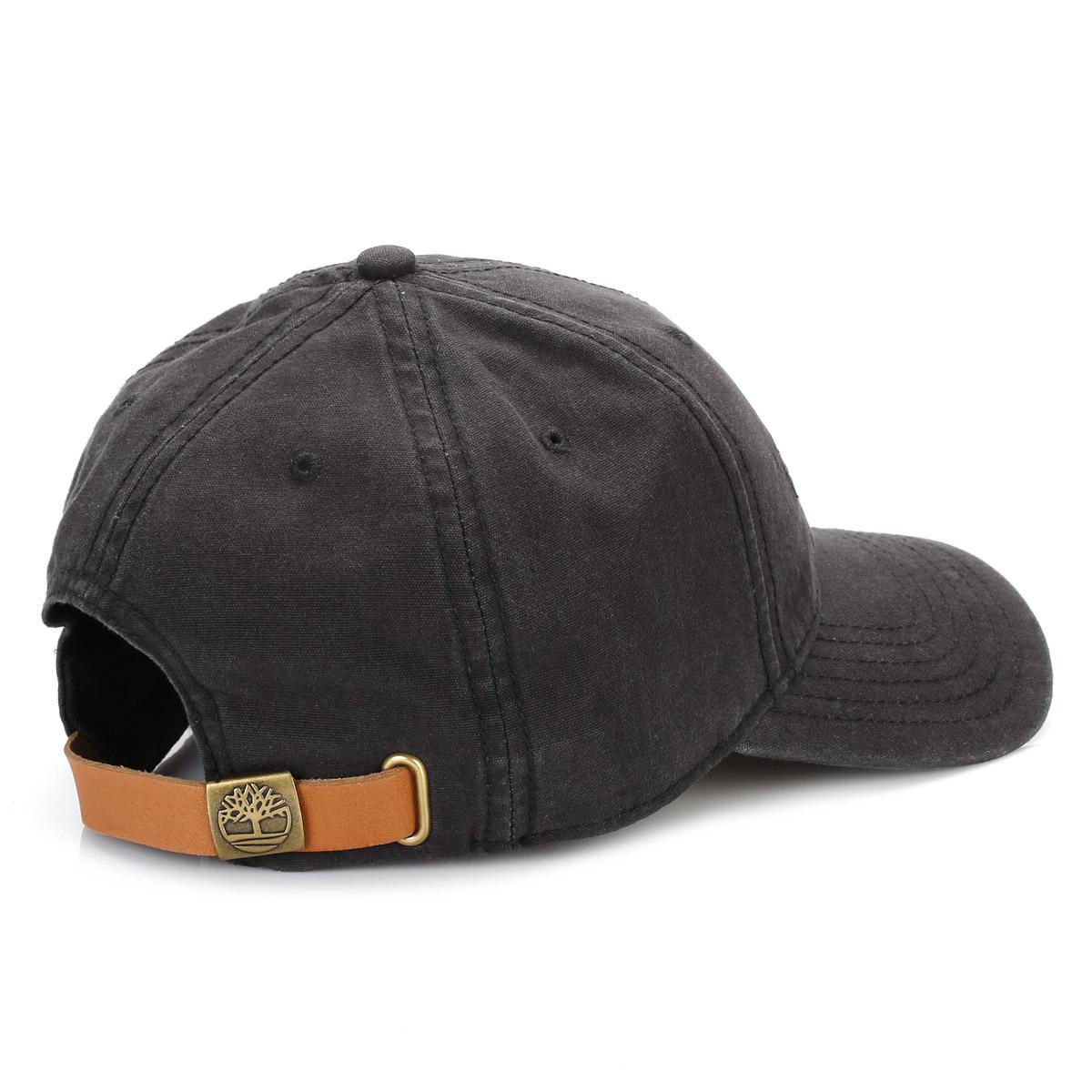 e6e4ec2f32a Timberland Black 6 Panel Baseball Cap in Black for Men - Lyst