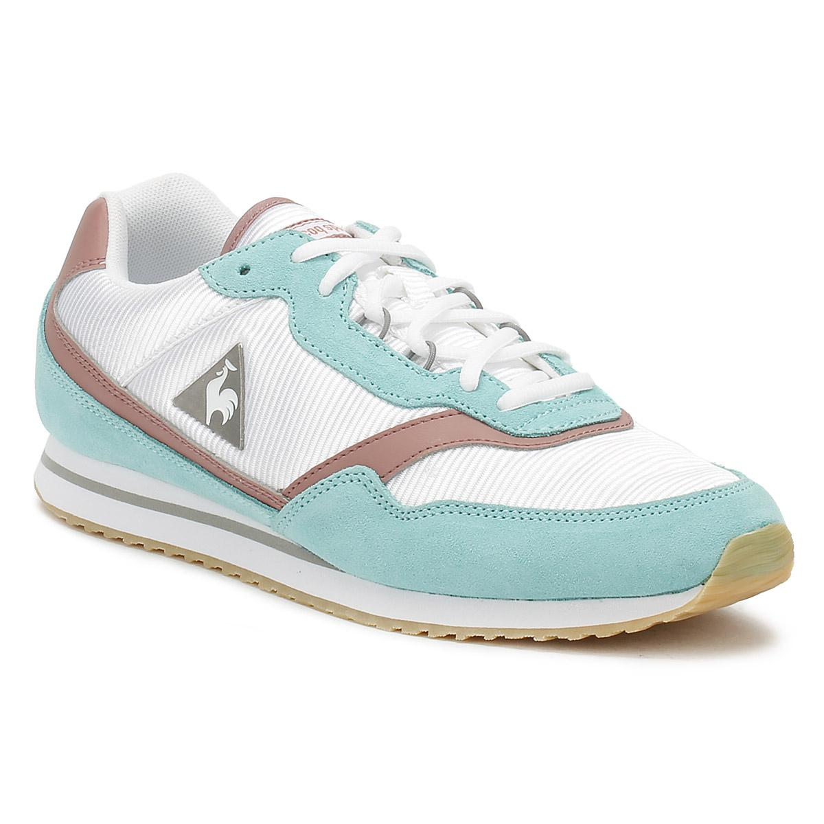 a9c2d0bb25bf Le Coq Sportif Womens Aruba Blue  Ash Rose Louise Suede Trainers in ...