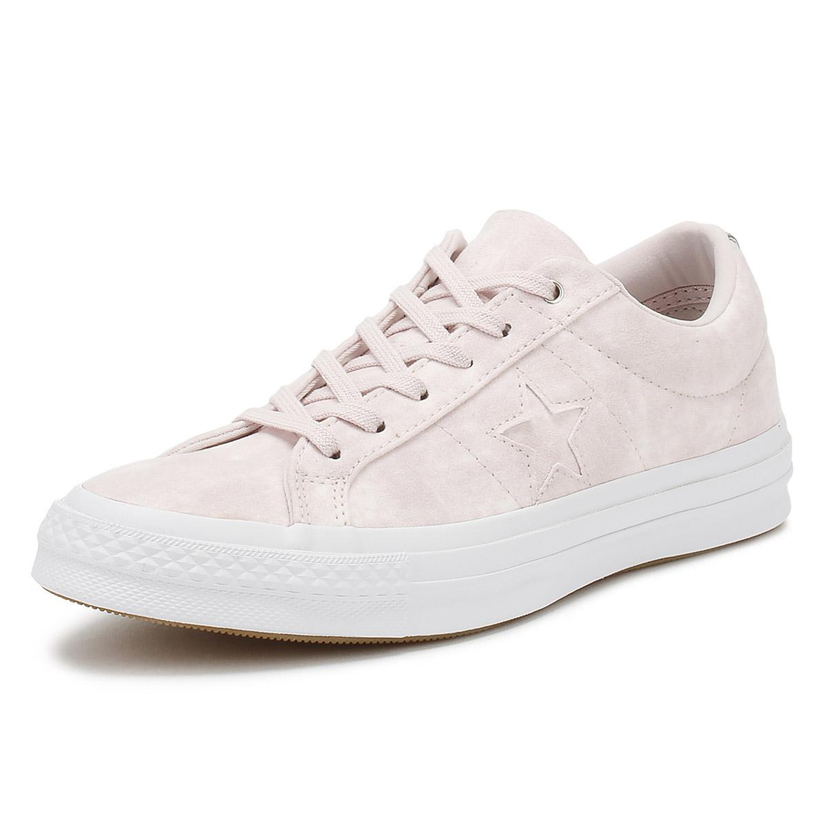 610259ec8932 Converse - Pink One Star Womens Barely Rose Canvas Ox Trainers - Lyst. View  fullscreen