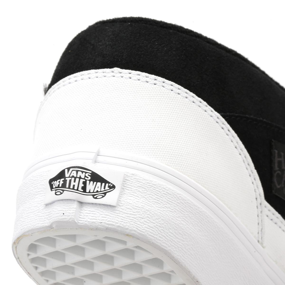 5ce9f7a223 Lyst - Vans Mens Dipped Black   True White Half Cab Trainers in ...