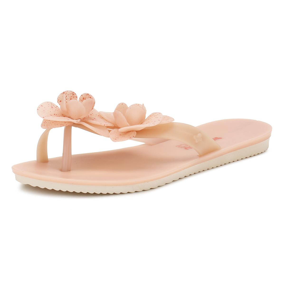 f411302f1cb Zaxy - Womens Blush Pink Ice Flower Flip Flops - Lyst. View fullscreen