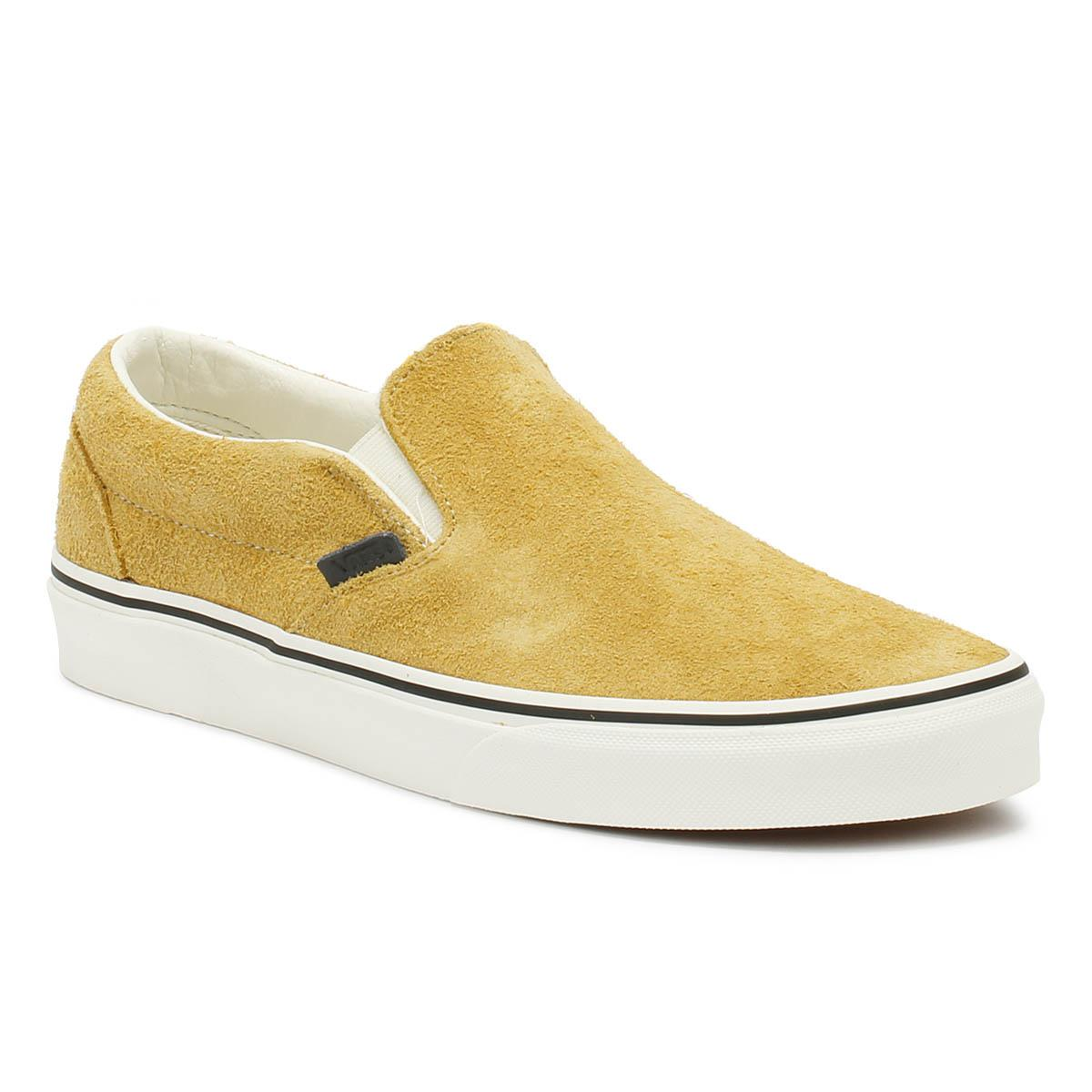 25fcb47c6e6 Vans. Natural Classic Slip On Hairy Suede Mens Sunflower Beige Trainers