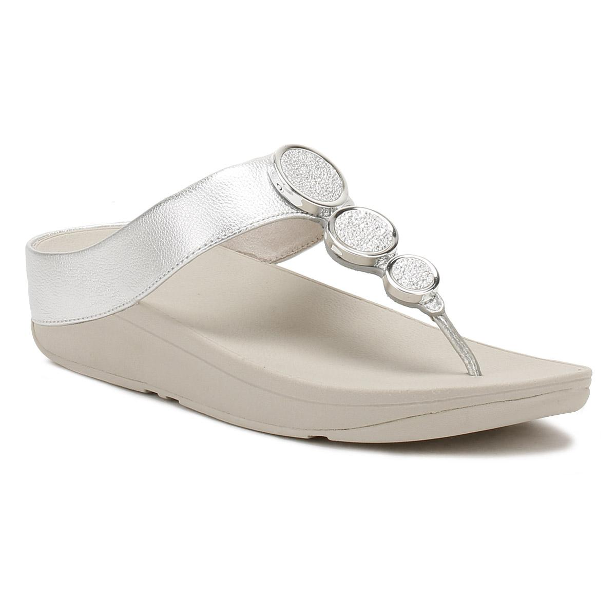 ad9cd38d2dd Lyst - Fitflop Womens Silver Halo Toe Thong Sandals in Metallic