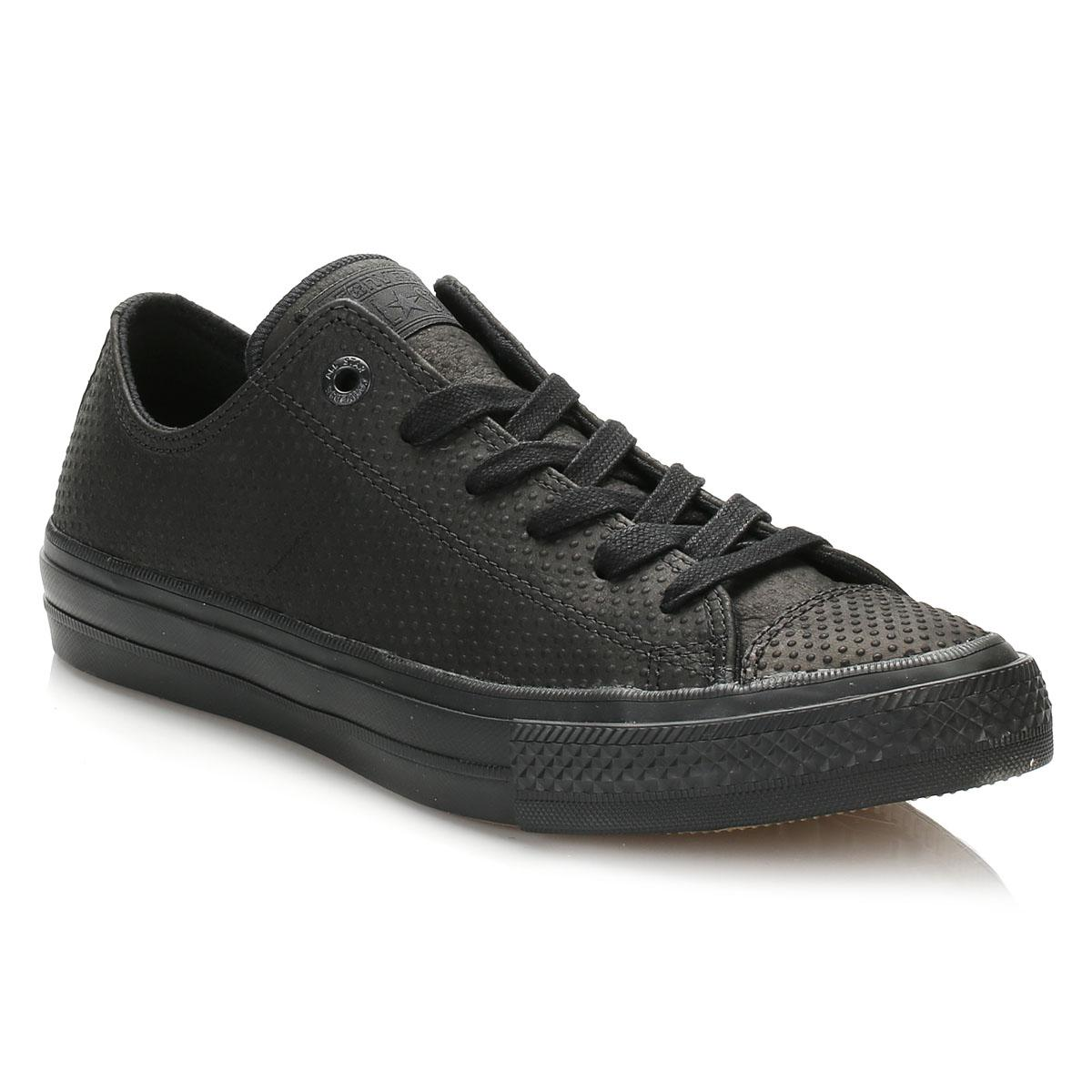 f3c6b4419c627a Converse All Star Chuck Taylor Ii Black Ox Trainers in Black for Men ...
