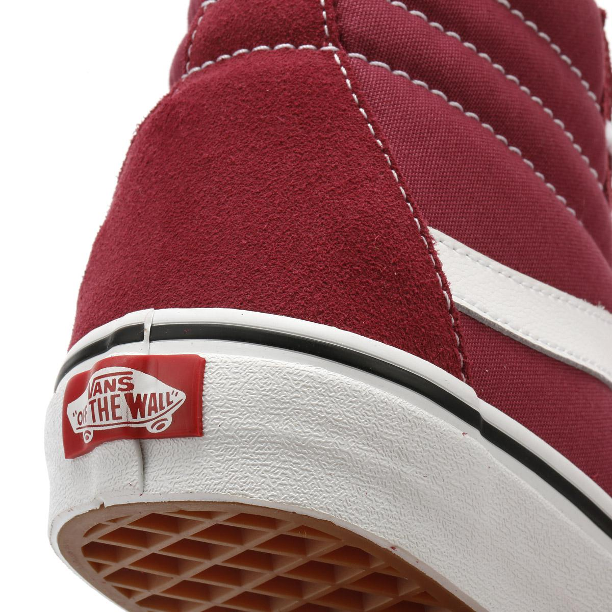4d89e96708b Vans - Dry Rose Red   True White Sk8-hi Trainers - Lyst. View fullscreen