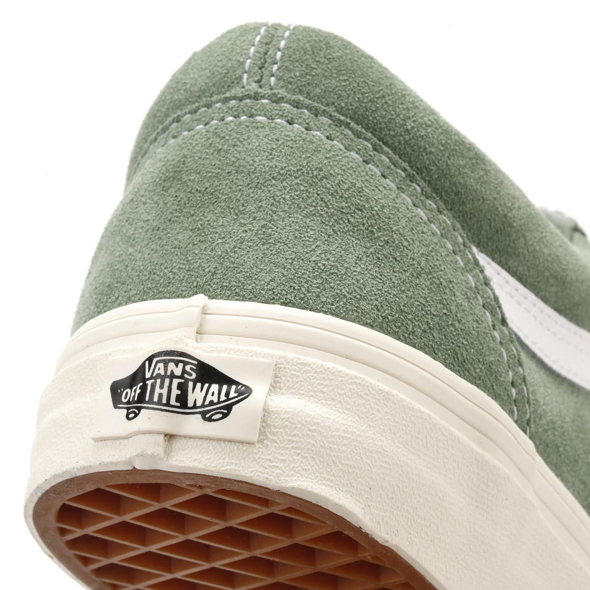 866af8c4cca0 Lyst - Vans Womens Green   True White Retro Sport Suede Old Skool ...