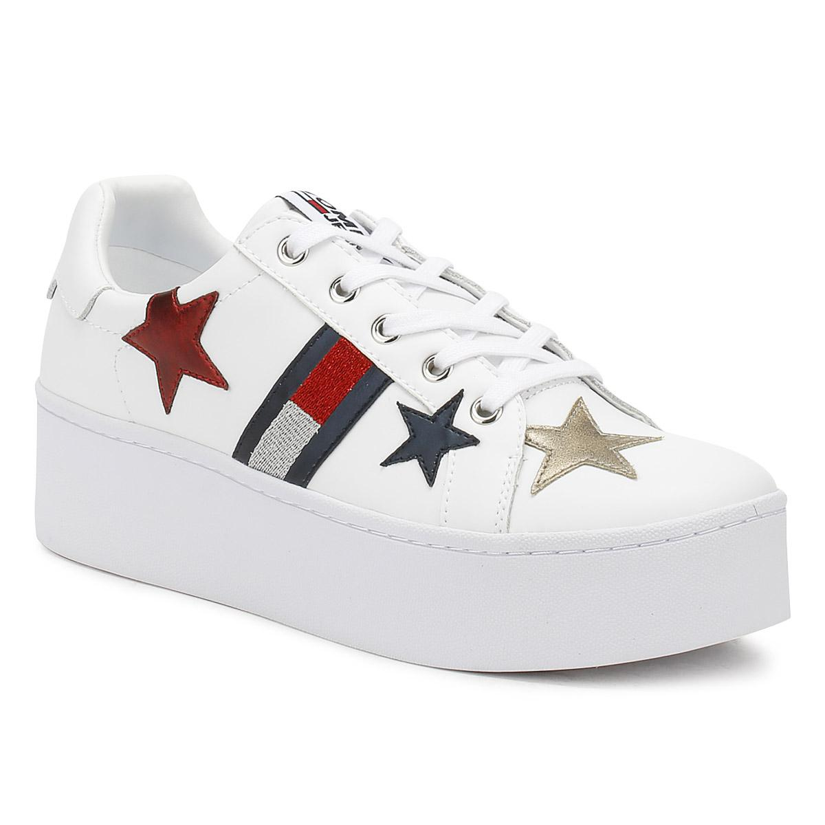 65563f7f Tommy Hilfiger Jeans Womens White Icon Sparkle Trainers in White - Lyst