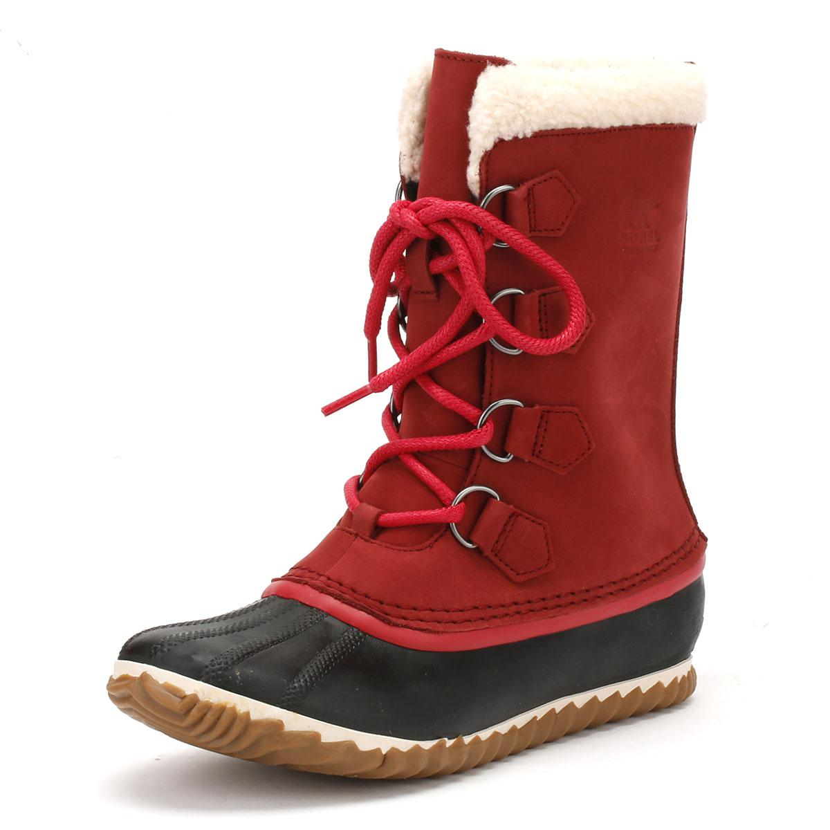 a4f25126c43 Sorel - Womens Red Element   Black Caribou Slim Boots Women s Snow Boots In  Red -. View fullscreen