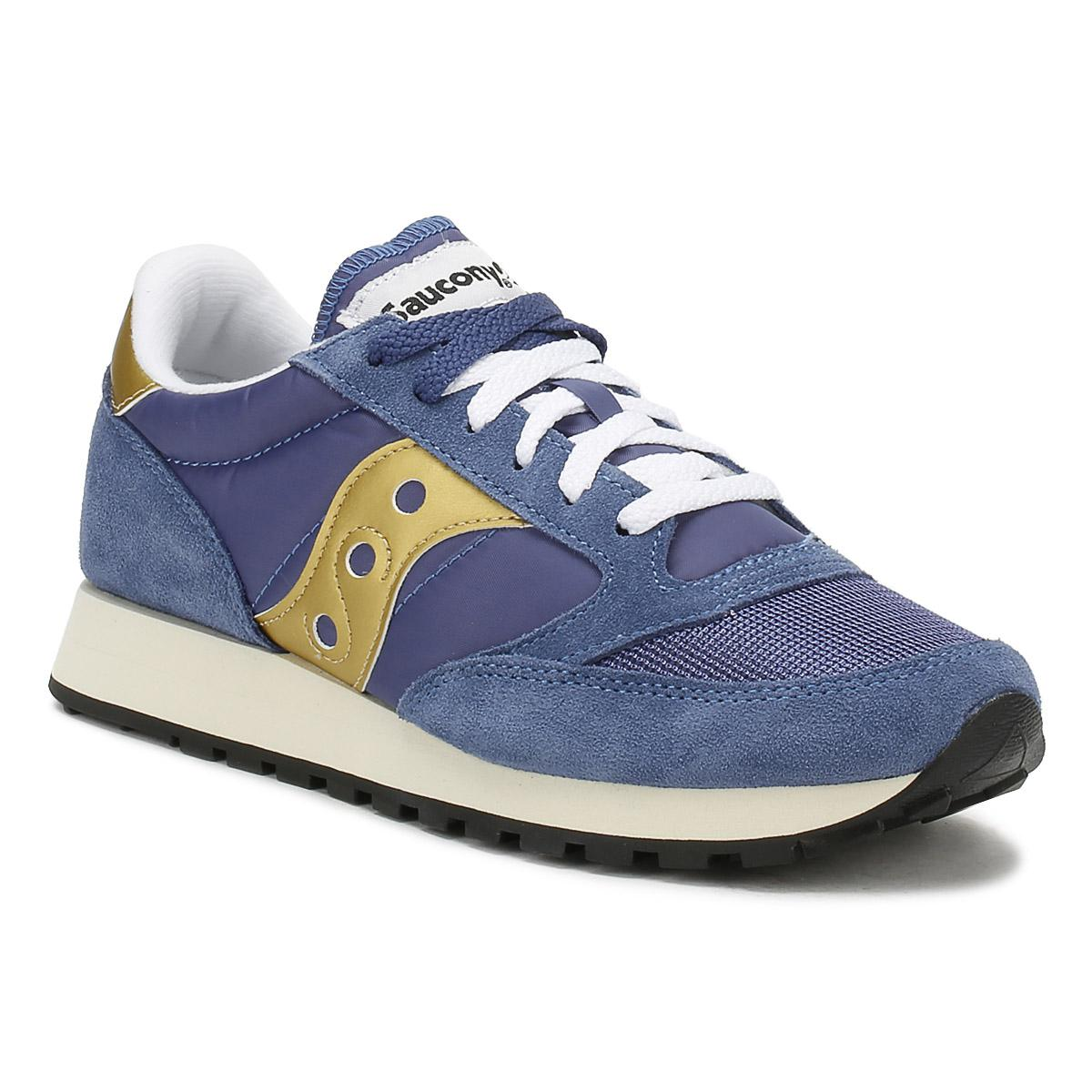 the latest 4b43e cfd0f Saucony Womens Navy   Gold Jazz Original Vintage Trainers in Blue - Lyst