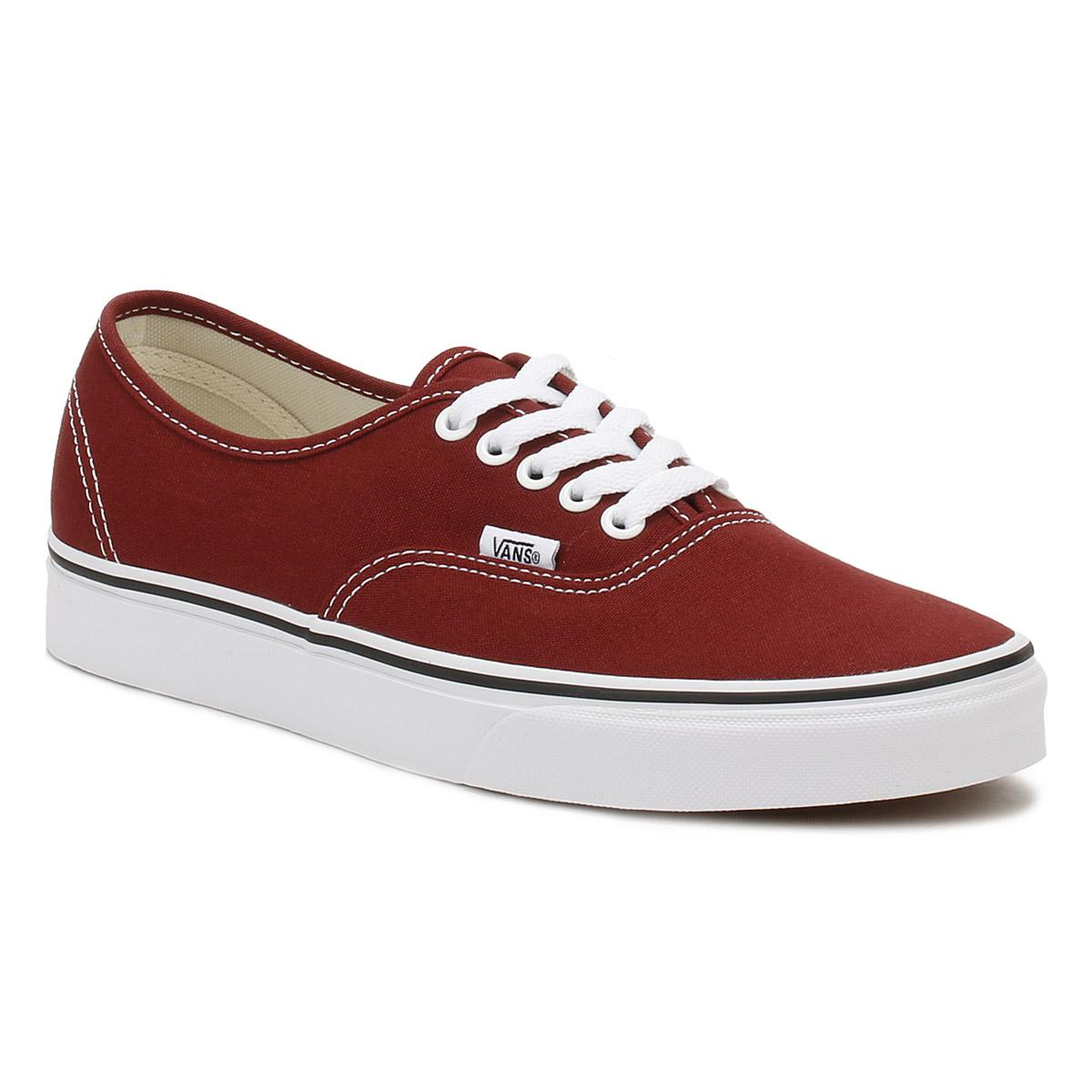 Vans. Mens Madder Brown / True White Authentic Trainers