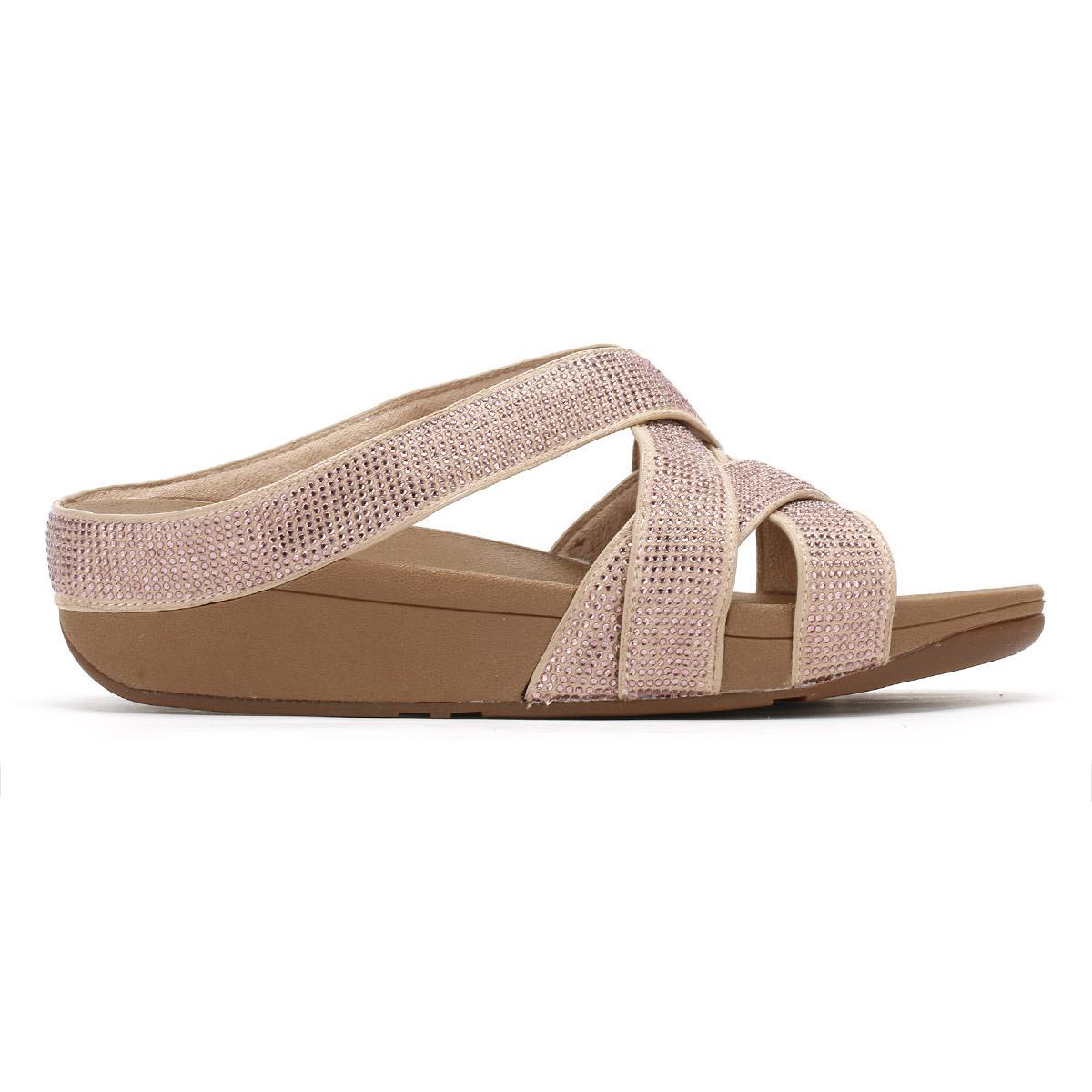 2d0c01686 Lyst - Fitflop Womens Nude Slinky Rokkit Criss-cross Sandals