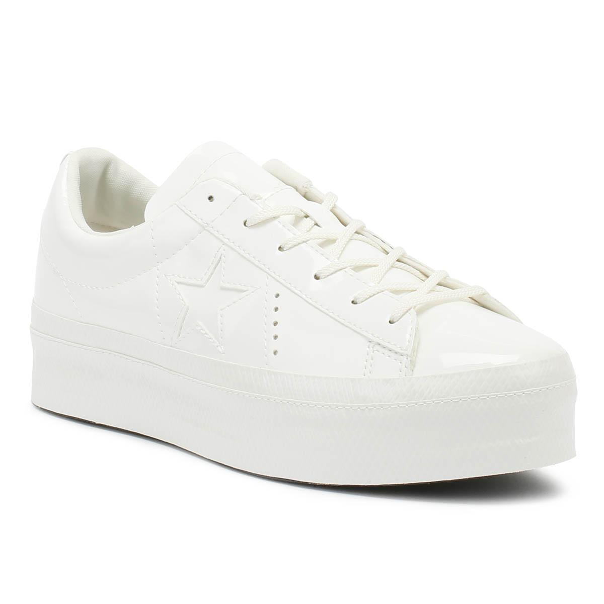 800928d6efc Lyst - Converse One Star Womens Vintage White Platform Ox Trainers ...
