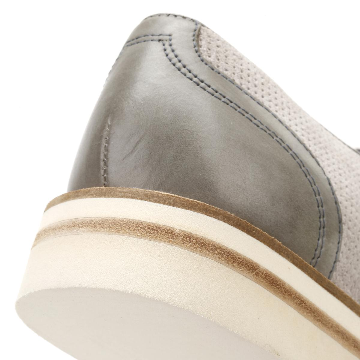 2cc3663d2a4c1c Lyst - Ted Baker Mens Light Grey Siablo Perforated Suede Shoes in ...