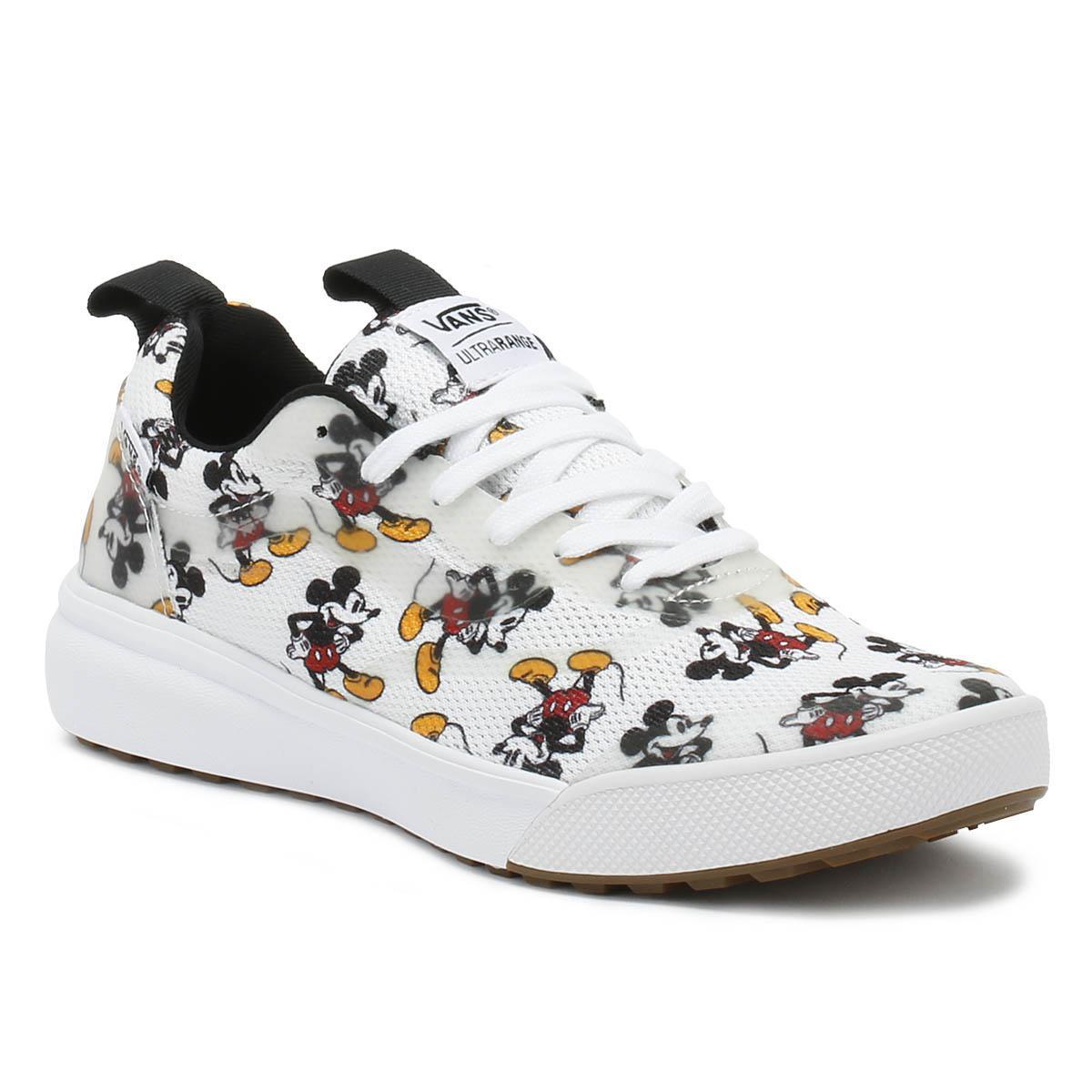 f7c0f5d90bde27 Lyst - Vans Disney Ultrarange Rapidweld Mickey Mouse White Trainers ...