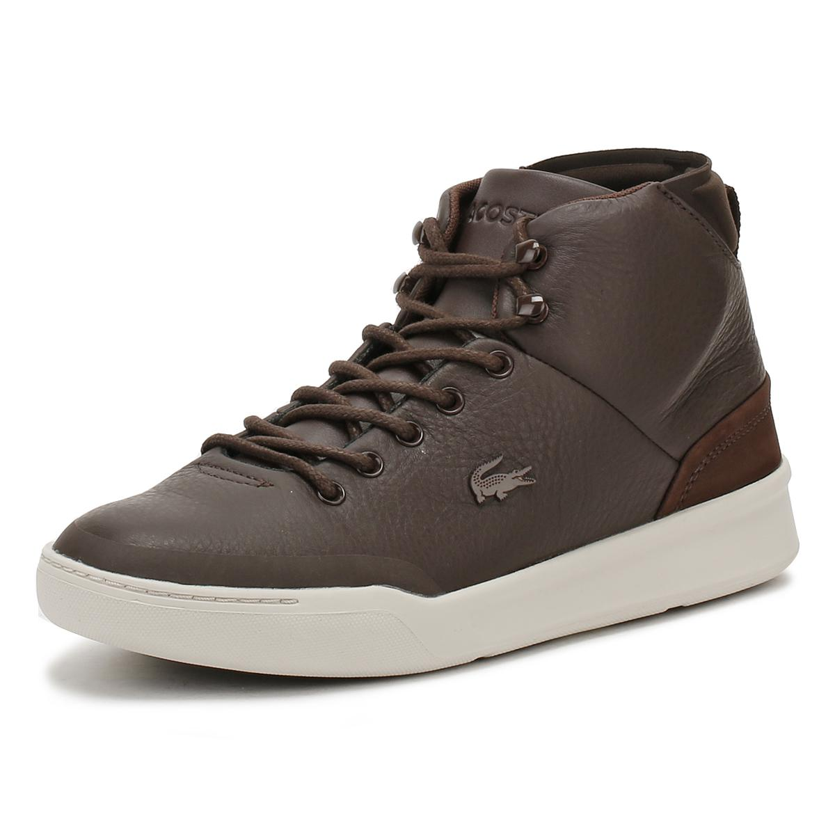 462f25392c93 Lyst - Lacoste Mens Dark Brown Explorateur Classic 317 1 Trainers in ...