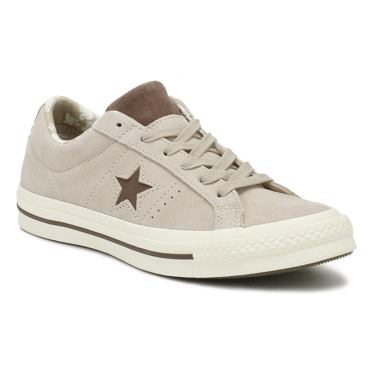 1d5fc41826b Converse One Star Mens Beige Tropical Ox Trainers in Natural for Men ...