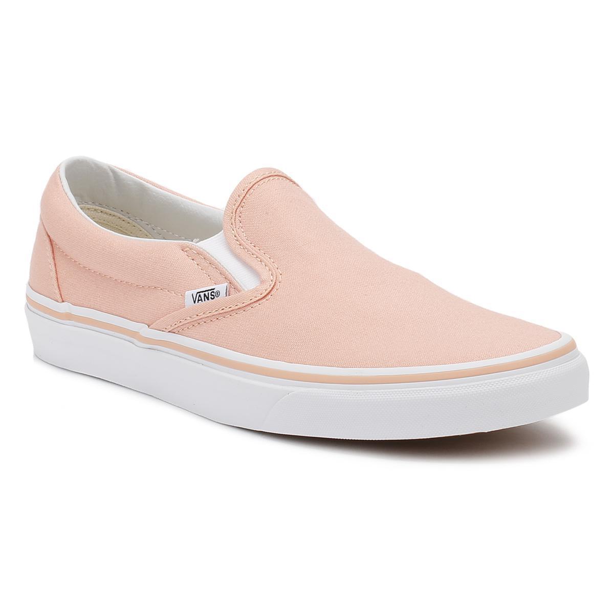 4577f26819bb Lyst - Vans Classic Slip-on Womens Tropical Peach True White Canvas ...