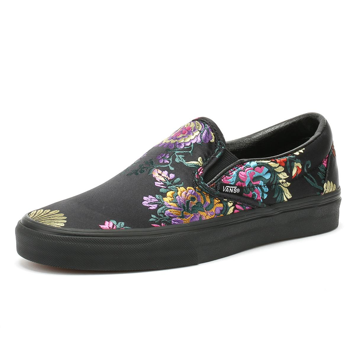 ec7c8ddafdc Vans - Classic Slip On Festival Satin Womens Black Trainers - Lyst. View  fullscreen