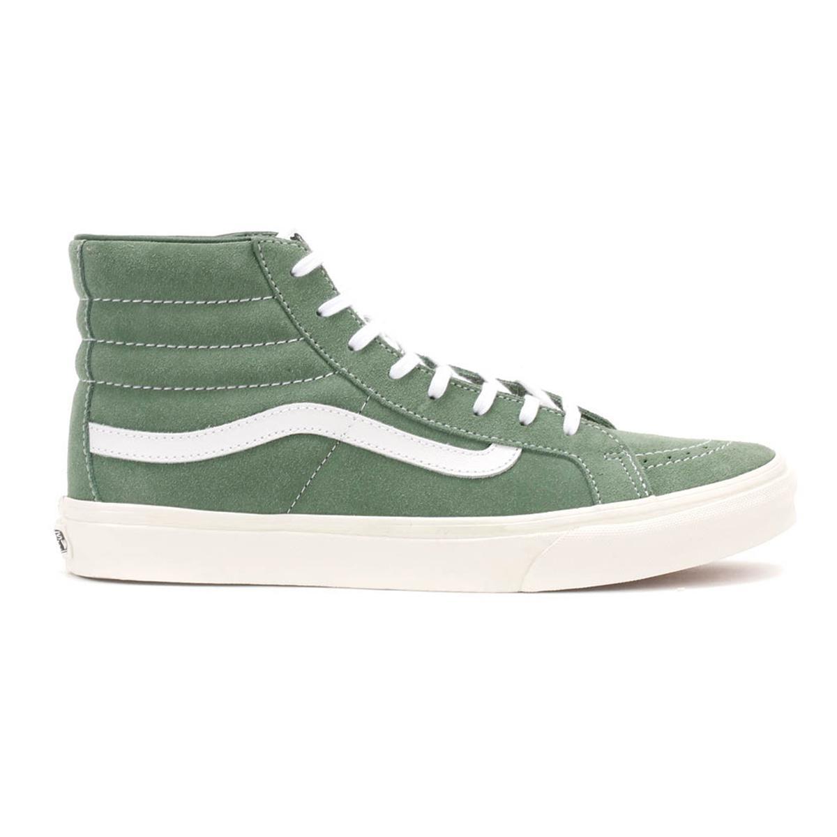 4ba3d7c1324 Lyst - Vans Womens Green   True White Suede Sk8-hi Slim Trainers in ...