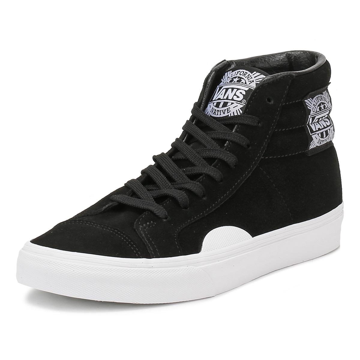 af28517aad65 Lyst - Vans Mens Black   White Native Suede Style 238 Trainers in ...