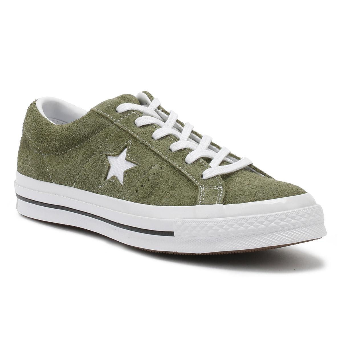 999d6a2396de9e Lyst - Converse One Star Ox Field Surplus White White in Green for Men