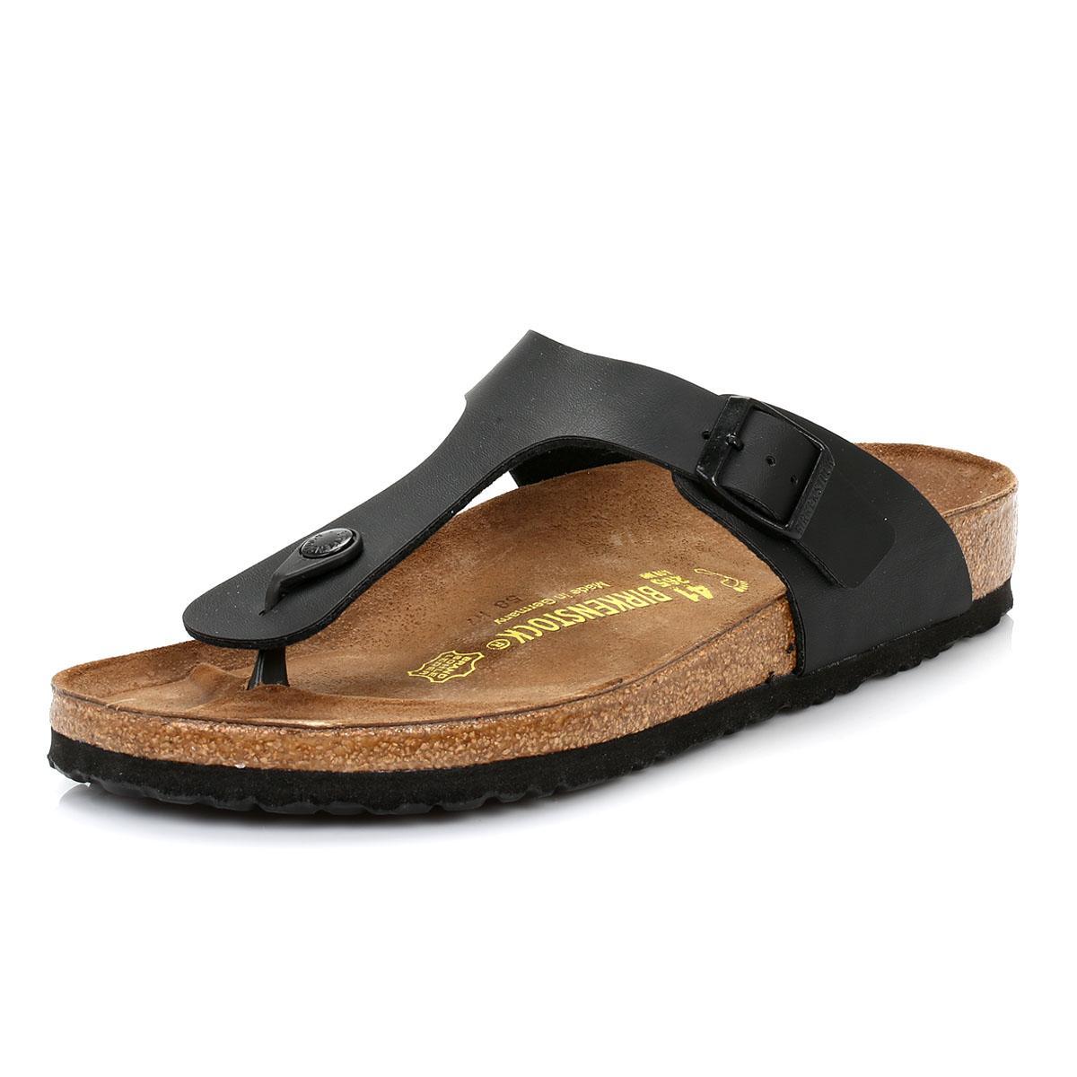 ed7d3c57598 Birkenstock - Gizeh Birko-flor Womens Black Sandals - Lyst. View fullscreen