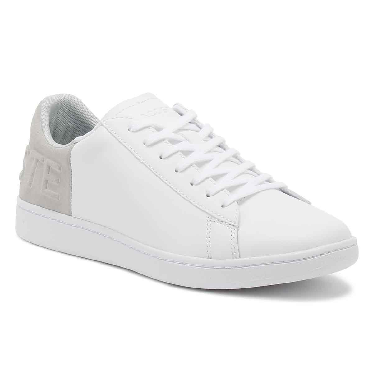 7581b9638900 Lyst - Lacoste Womens White   Light Grey Carnaby Evo 318 3 Trainers ...