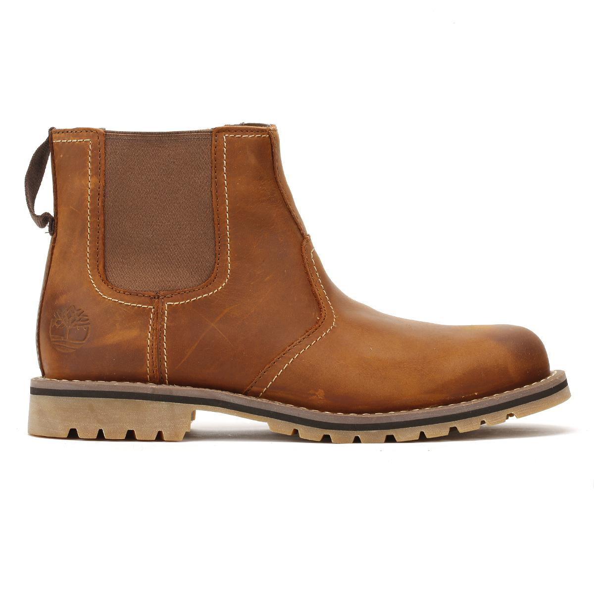 c47070f2040f Lyst - Timberland Mens Oakwood Brown Larchmont Chelsea Boots in ...