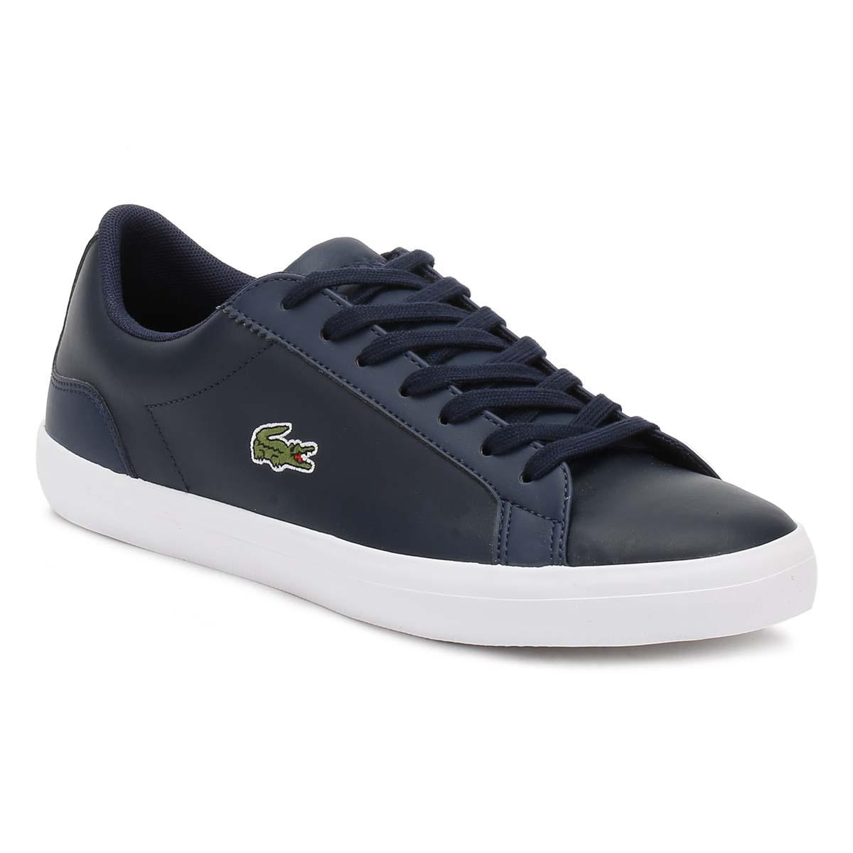 41fbe90e0e47e9 Lacoste Mens Navy Lerond Bl1 Cam Trainers in Blue for Men - Lyst