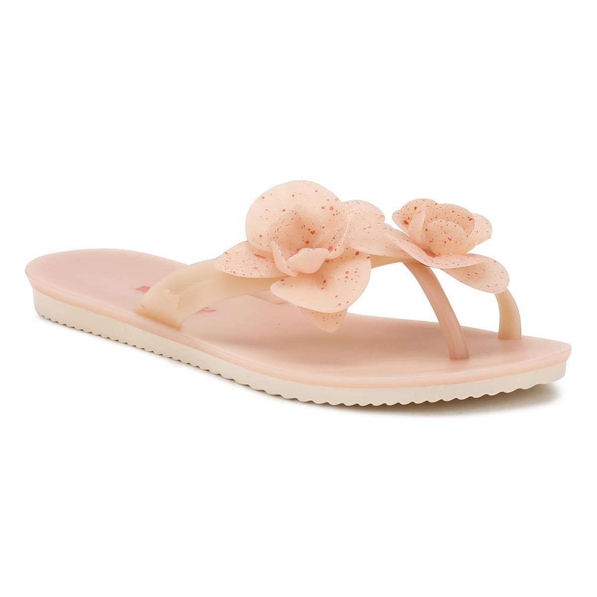 6c8dc4358d297 Lyst - Zaxy Womens Blush Pink Ice Flower Flip Flops Women s Flip ...