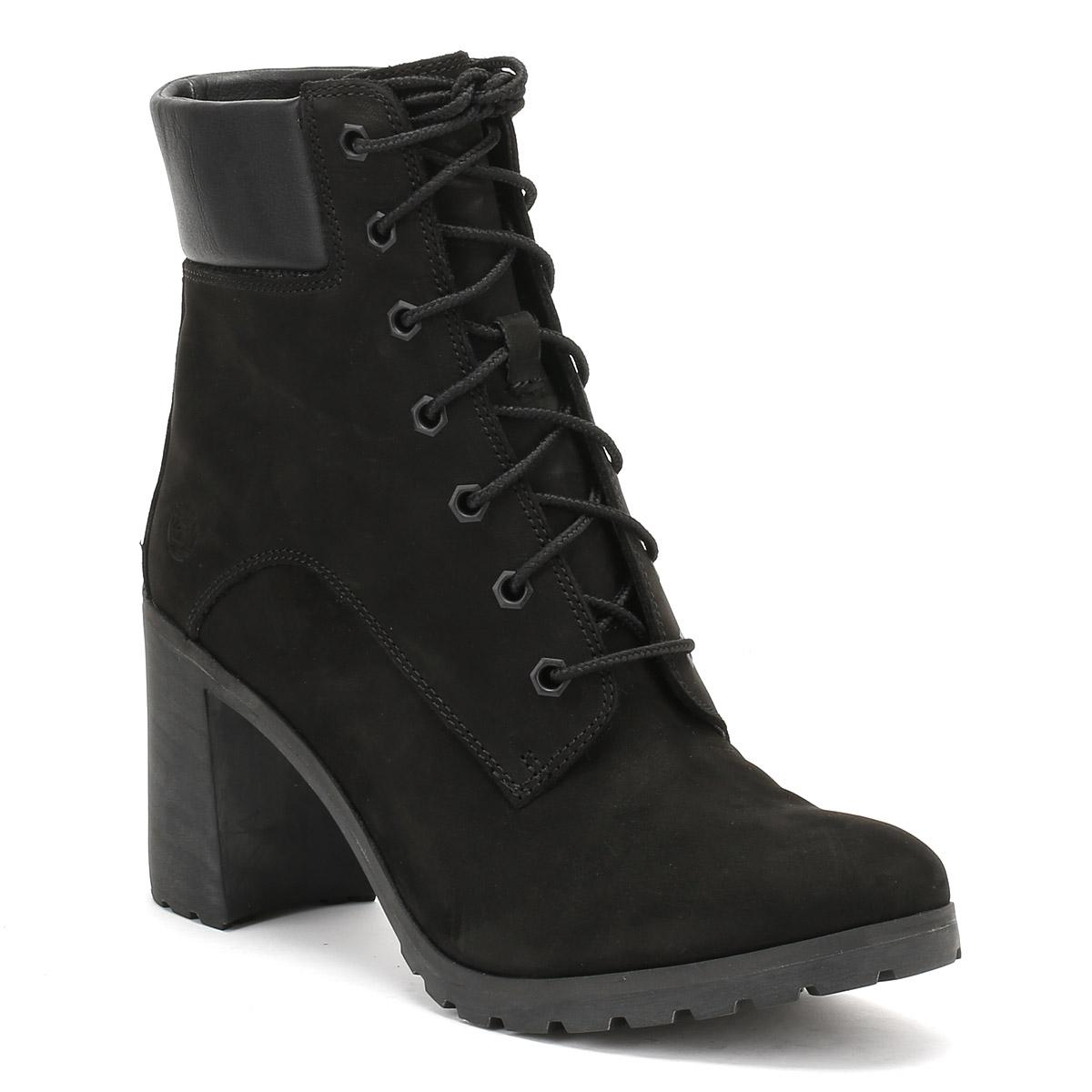 Timberland Womens Black Allington 6 Inch Boots in Black - Lyst