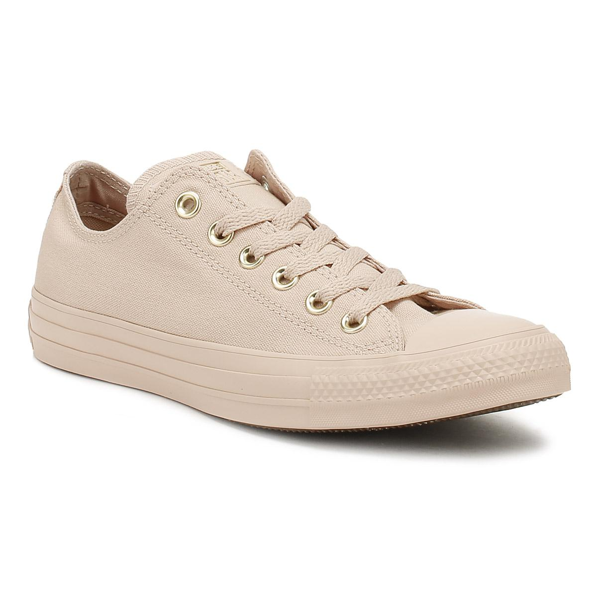 282f5ffc20dd Converse Chuck Taylor All Star Womens Particle Beige Ox Trainers in ...