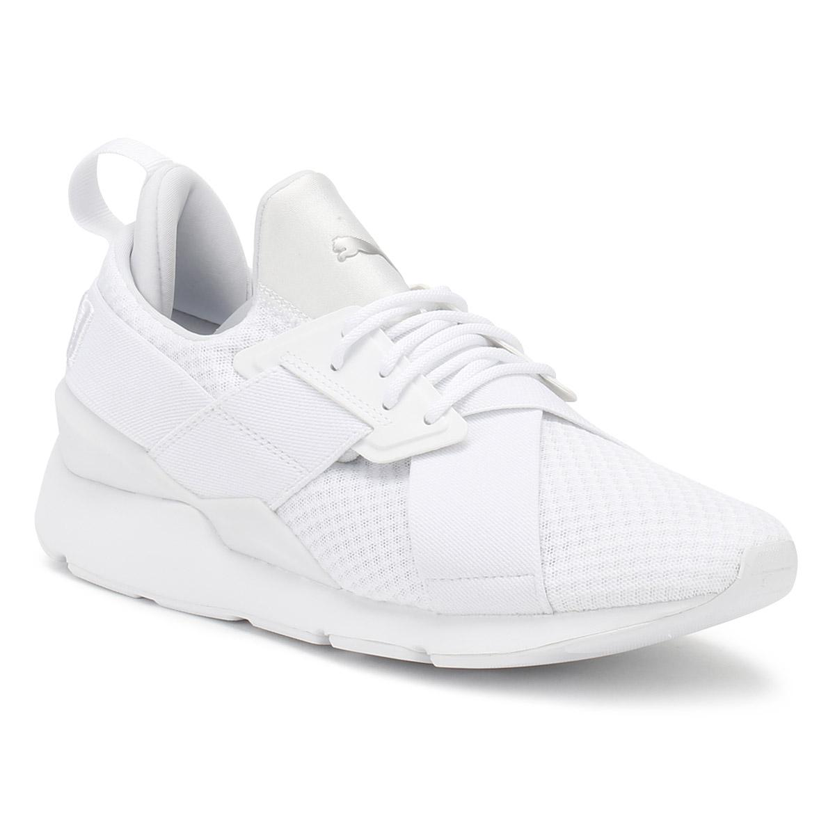 3d17060e7992 PUMA Womens White Muse X-strap Ep Trainers in White - Lyst