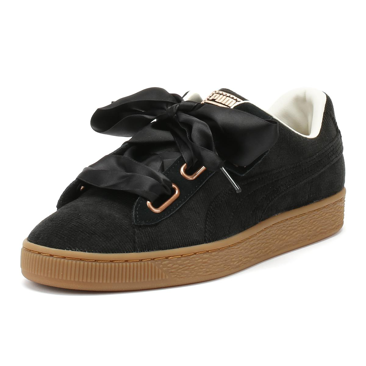 b4bc36904f05 PUMA - Womens Black Corduroy Basket Heart Trainers - Lyst. View fullscreen