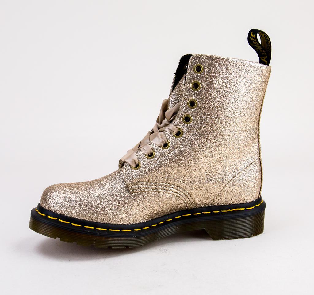 7f3a1ace3b38 ... Dr Martens 1460 Pascal Glitter 24320714 Pale Gold Glitter Pu Boots.  View fullscreen