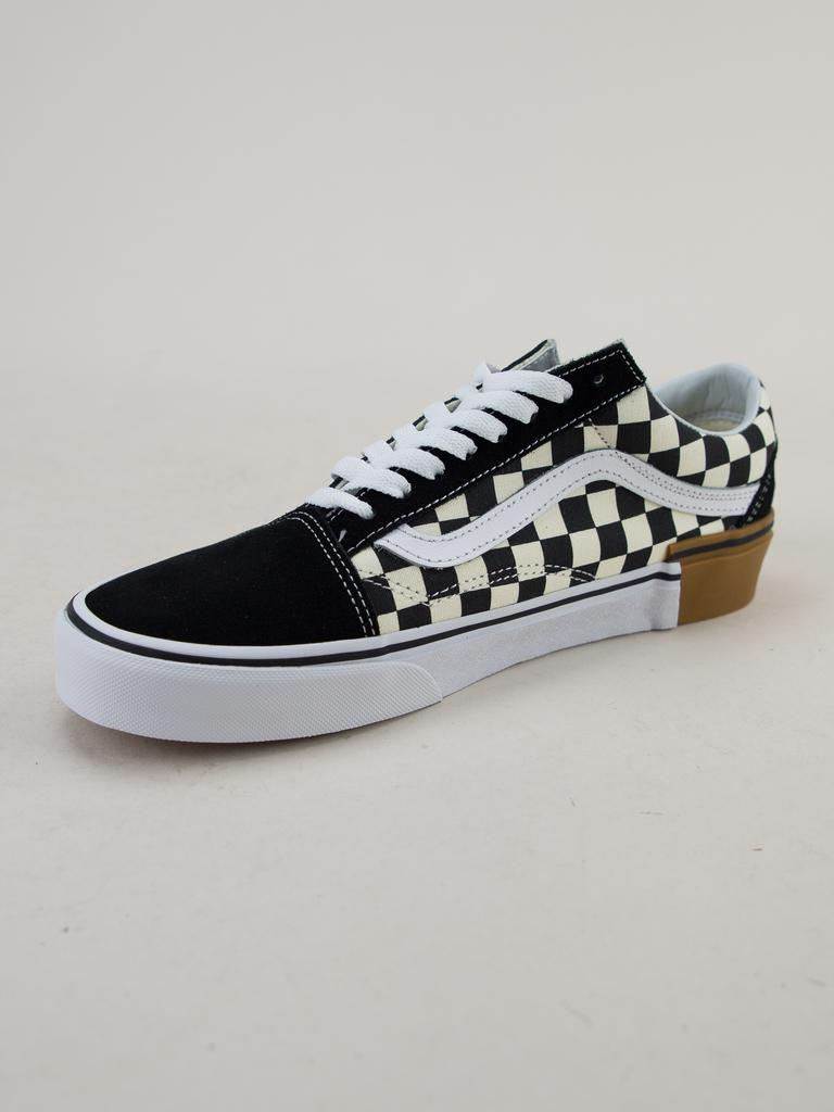 Vans Old Skool (gum Block) Checkerboard Trainers for Men - Lyst 2a4e34c34