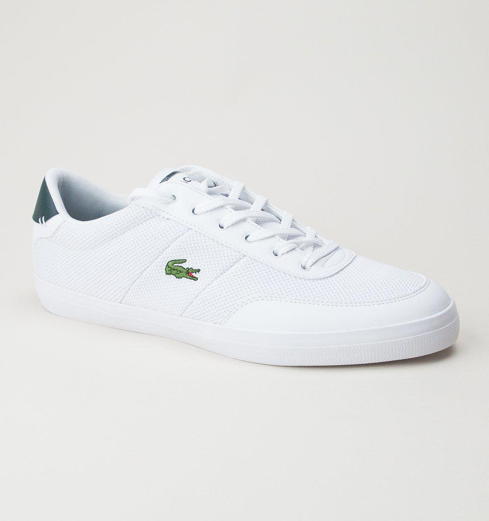 d085294ea Lacoste Court-master 118 3 Cam Wht-dk Grn Trainers in White for Men ...