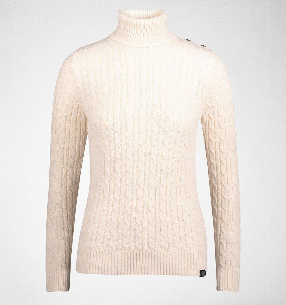 e8ce208b3 Superdry Croyde Roll Neck Cable Knit Winter Marl Tops   T-shirts in ...