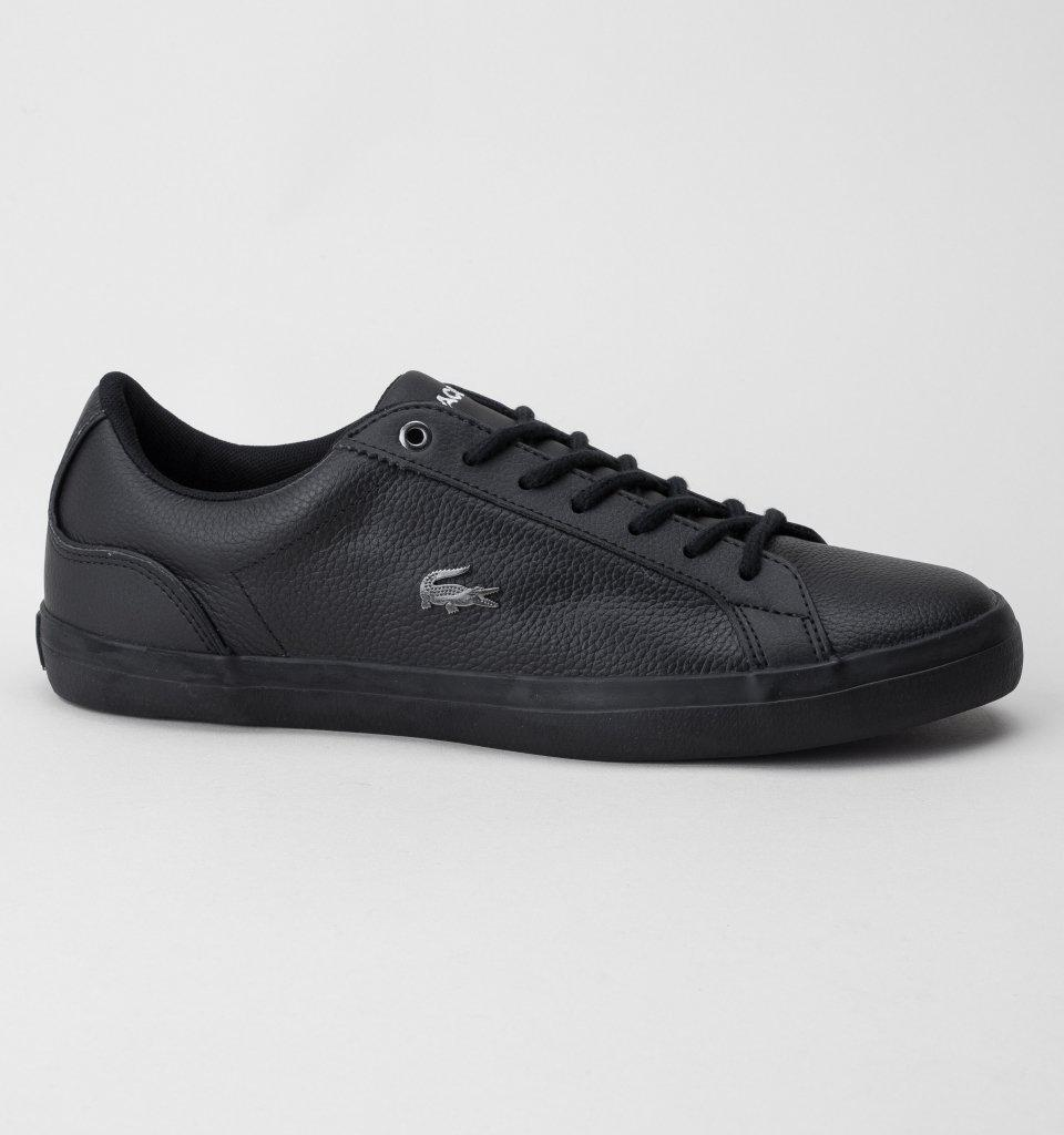 7603c5e72 Lacoste Lerond 317 4 Cam Trainers in Black for Men - Save ...