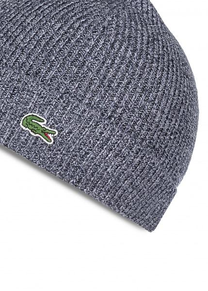 9ad94b91c20 Lyst - Lacoste Beanie Hat Mouline in Blue for Men