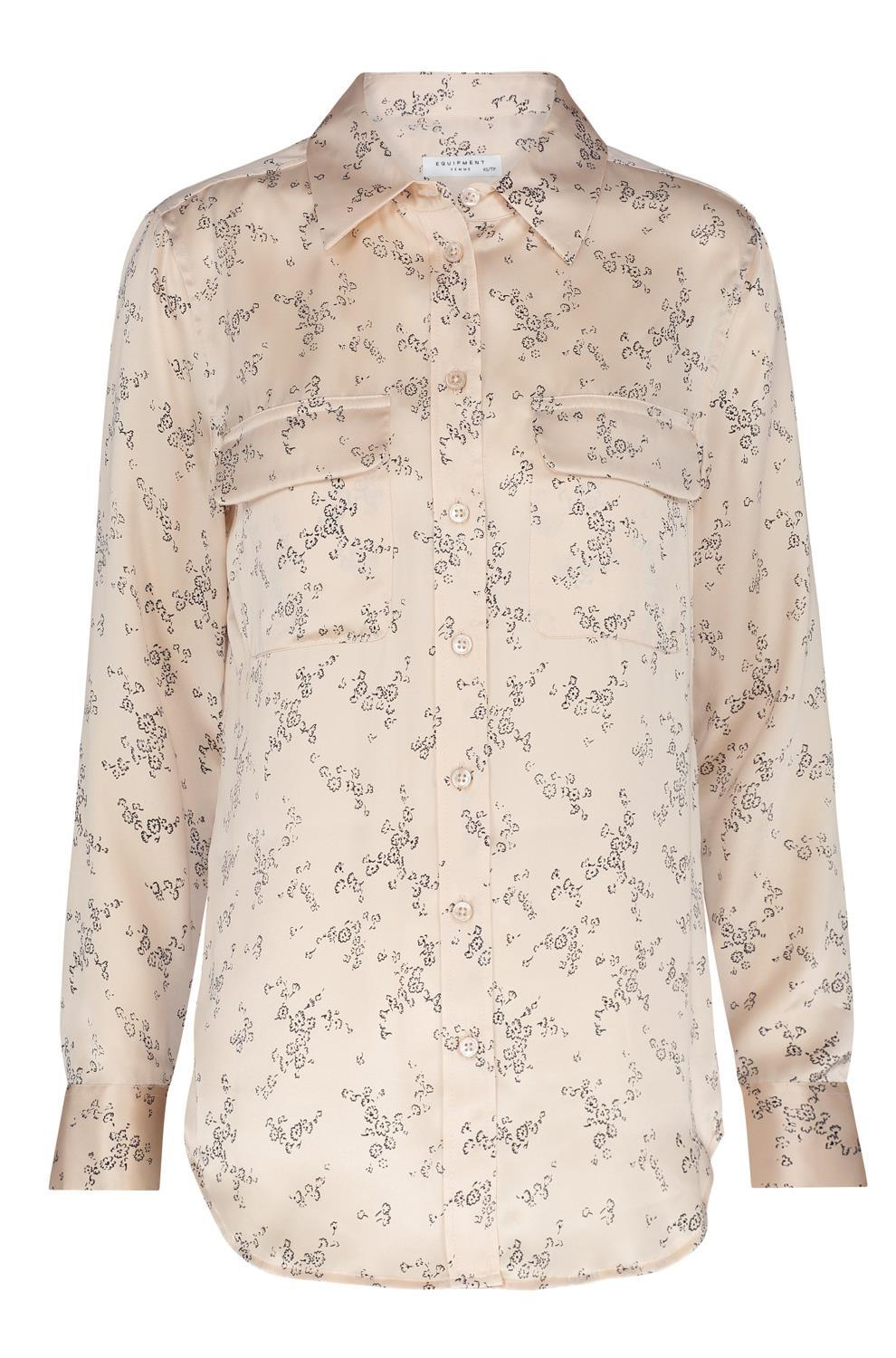 b96eeb4ee2ddc Equipment Slim Signature Shirt In French Nude Floral in Natural - Lyst
