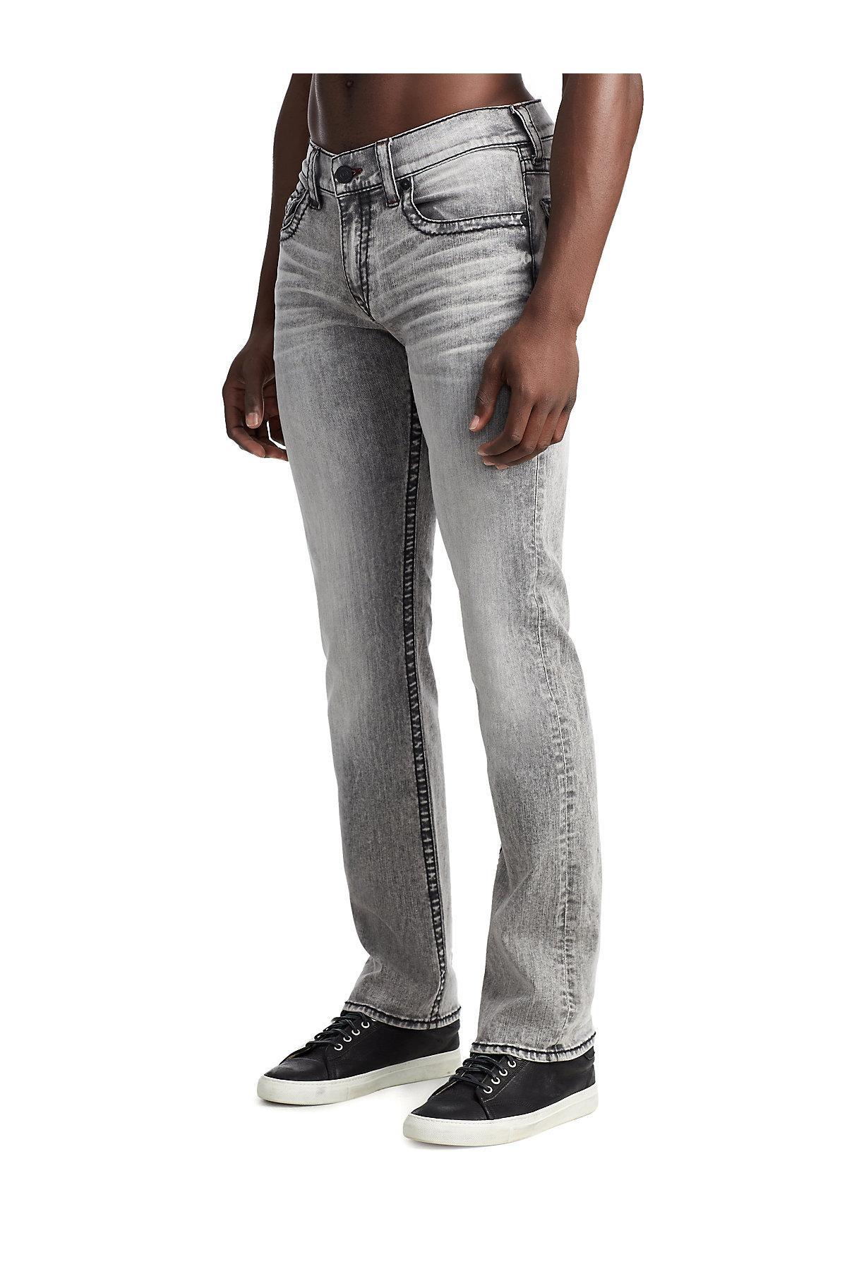 9427a0ee2 True Religion - Gray Ricky Straight Big T Jean for Men - Lyst. View  fullscreen