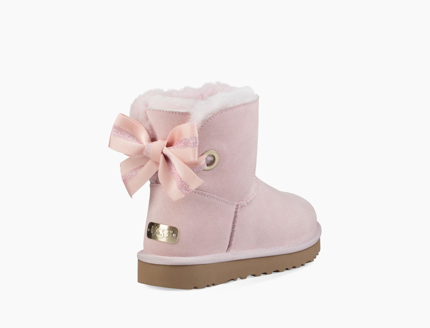 Ugg - Pink Women's Customizable Bailey Bow Mini Boot - Lyst. View fullscreen